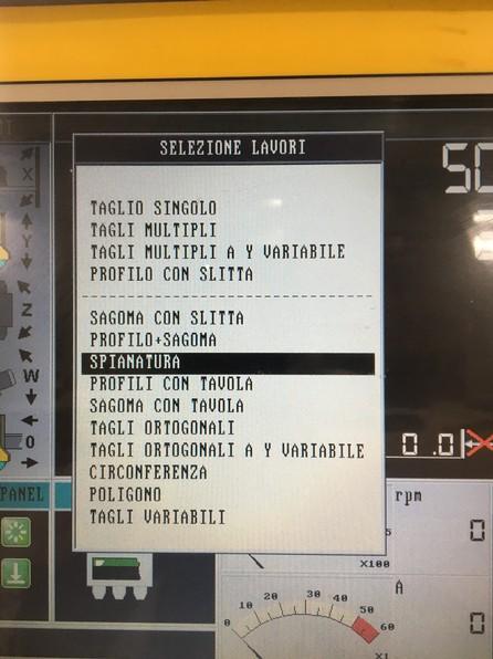 Used bridge saw for sale - Gmm Radia - Automatic programs list